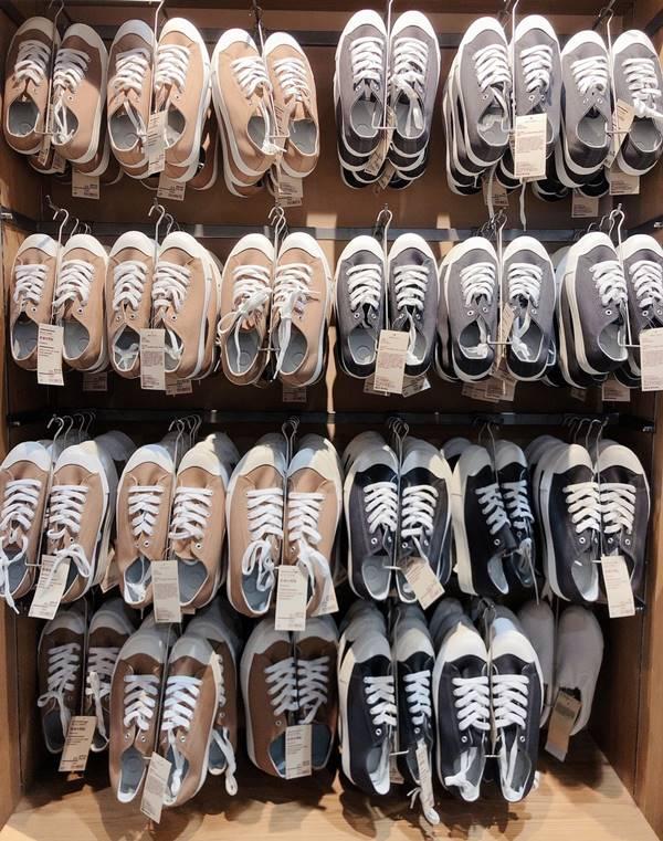 無印良品必買推薦撥水加工有機棉舒適休閒鞋