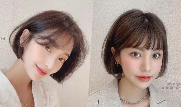 2021女生短髮髮型空氣瀏海短髮